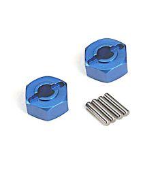 Hexagone de roue alu bleu X2 ( TRX1654X )