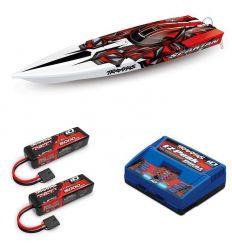 Pack Traxxas Spartan + Chargeur double + 2 batteries 5000 mAh