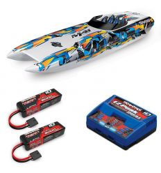 Pack Traxxas M41 Orange + Chargeur double + 2 batteries 3s 5000 mAh