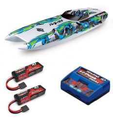 Pack Traxxas M41 Vert + Chargeur double + 2 batteries 3s 5000 mAh