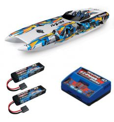 Pack Traxxas M41 Orange + Chargeur double + 2 batteries 2s 7600 mAh