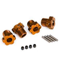 Hexagones de roues anodisés Orange17mm (X4) ( TRX8654A )