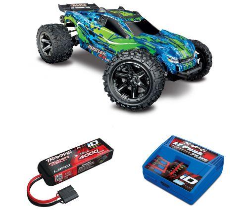 Pack Traxxas Rustler 4x4 + Chargeur + batterie 3s 4000 mAh