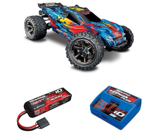 Pack Traxxas Rustler 4x4 + Chargeur + batterie 3s 4000 mAh