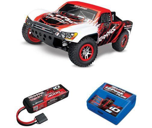 Pack Traxxas Slash 4x4 + Chargeur + batterie 3s 4000 mAh