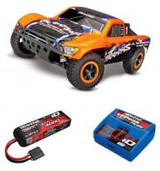 Pack Traxxas Slash 4x4 Orange + Chargeur + batterie 3s 4000 mAh