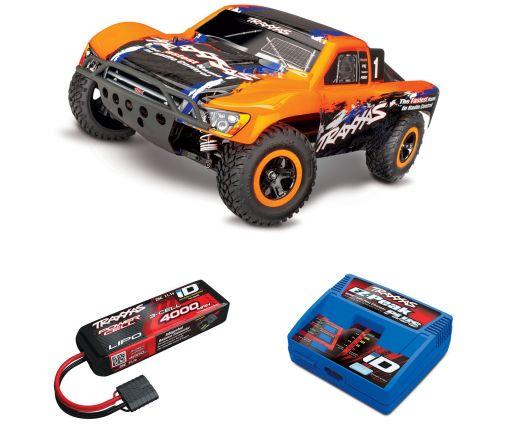 Pack Traxxas Slash 4x4 Orange + Chargeur + batterie 3s 4000 mAh
