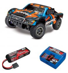 Pack Traxxas Slash Ultimate - 4x4 - Orange + Chargeur + batterie 3s 4000 mAh