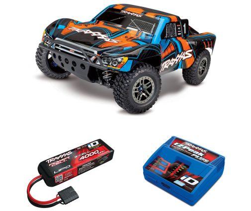 Pack Traxxas Slash Ultimate - 4x4 - Orange + Chargeur + batterie 3s 4000 mAh