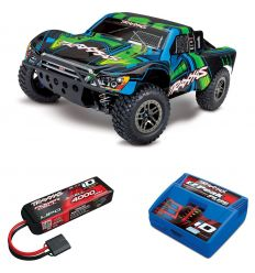 Pack Traxxas Slash Ultimate - 4x4 - Vert + Chargeur + batterie 3s 4000 mAh