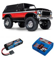 Pack Traxxas TRX-4 Bronco Rouge + Chargeur + batterie 2s 5800 mAh