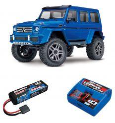 Pack Traxxas TRX-4 Mercedes Bleu + Chargeur + batterie 2s 5800 mAh