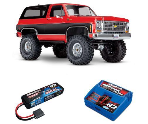 Pack Traxxas TRX-4 Blazer Rouge + Chargeur + batterie 2s 5800 mAh