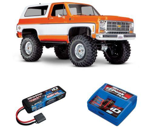Pack Traxxas TRX-4 Blazer Orange + Chargeur + batterie 2s 5800 mAh