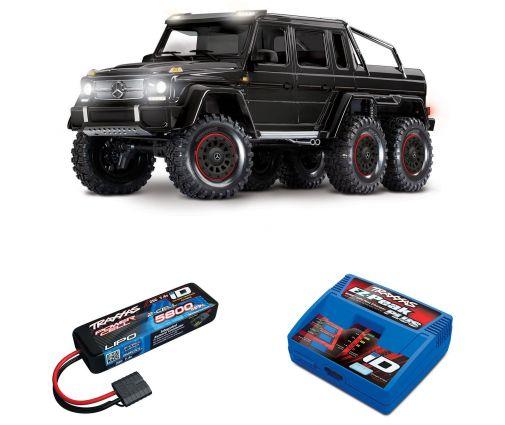 Pack Traxxas TRX-6 Mercedes Noir + Chargeur + batterie 2s 5800 mAh