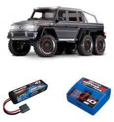 Pack Traxxas TRX-6 Mercedes Gris + Chargeur + batterie 2s 5800 mAh
