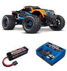 Pack Traxxas Maxx Orange + Chargeur + batteries 4s 5000 mAh