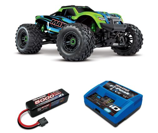 Pack Traxxas Maxx Rouge + Chargeur + batteries 4s 5000 mAh