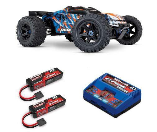 Pack Traxxas E-Revo 2.0 + Chargeur double + 2 batteries 5000 mAh