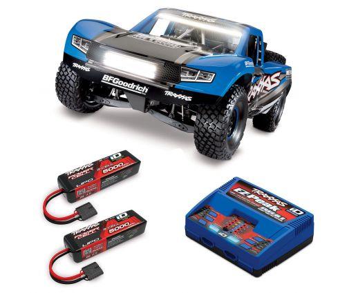 Pack Traxxas UDR Bleu LED + Chargeur double + 2 batteries 5000 mAh