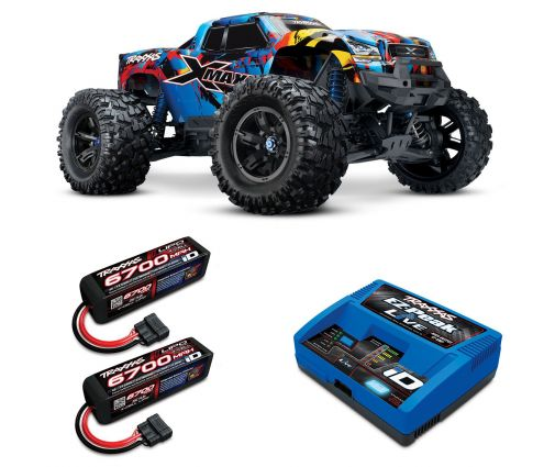 Pack Traxxas X-Maxx 8s + Chargeur + 2 batteries 4s 6700 mAh