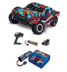 Pack Traxxas Slash 4x2 Hawai + Chargeur + batterie 2s 5800 mAh