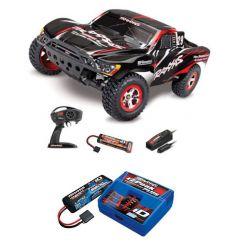 Pack Traxxas Slash 4x2 Noir + Chargeur + batterie 2s 5800 mAh