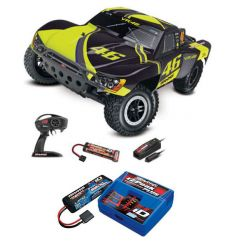 Pack Traxxas Slash 4x2 VR46 + Chargeur + batterie 2s 5800 mAh
