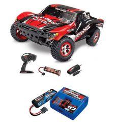 Pack Traxxas Slash 4x2 Rouge + Chargeur + batterie 2s 5800 mAh
