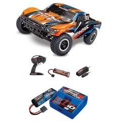 Pack Traxxas Slash 4x2 Orange X + Chargeur + batterie 2s 5800 mAh