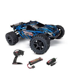 Traxxas Rustler- 4x4 - 1/10 Brushed Stadium Truck TQ 2.4GHZ Rouge