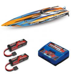 Pack Traxxas Spartan Orange + Chargeur double + 2 batteries 3s 5000 mAh