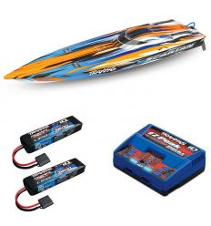 Pack Traxxas Spartan Orange + Chargeur double + 2 batteries 2s 7600 mAh
