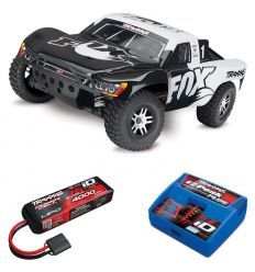Pack Traxxas Slash 4x4 Fox + Chargeur + batterie 3s 4000 mAh