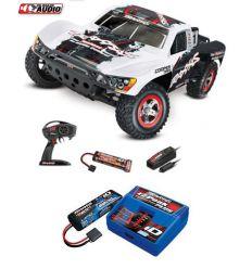 Pack Traxxas Slash 4x2 OBA Blanc + Chargeur + batterie 2s 5800 mAh