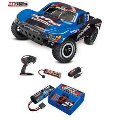 Pack Traxxas Slash 4x2 OBA Bleu + Chargeur + batterie 2s 5800 mAh