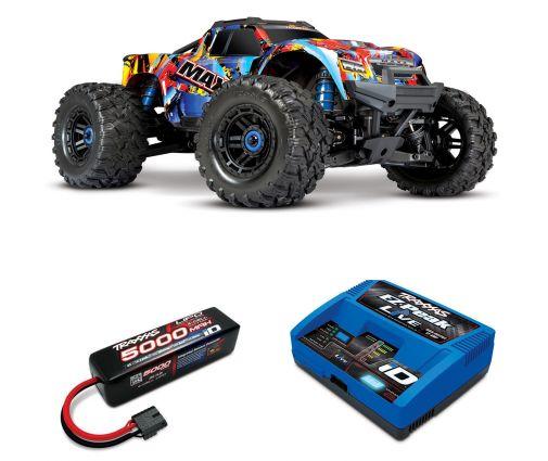 Pack Traxxas Maxx Rock n'roll + Chargeur + batteries 4s 5000 mAh
