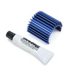 Dissipateur thermique alu bleu pour moteur Brushless VELINEON 380 ( TRX3374 )