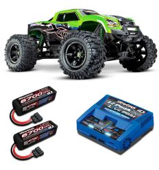 Pack Traxxas X-Maxx 8s + Chargeur double + 2 batteries 4s 6700 mAh