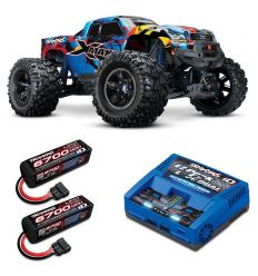 Pack Traxxas X-Maxx 8s RNR  + Chargeur double + 2 batteries 4s 6700 mAh