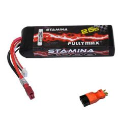 Batterie Lipo 11.1v ( 3s ) 4000 mAh 25C avec adaptateur Traxxas