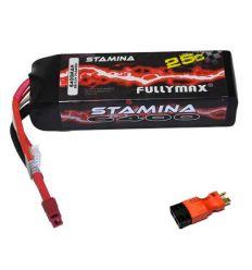 Batterie Lipo 11.1v ( 3s ) 6400 mAh 25C avec adaptateur Traxxas