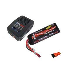 Pack Chargeur COBRA  E450 AC + Lipo 3S 4000MAH F2849X