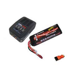 Pack Chargeur COBRA  E450 AC + Lipo 3S 5000MAH F2872X