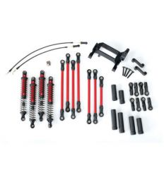 Kit bras / biellette long TRX-4 complet – rouge ( TRX8140R )