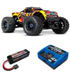 Pack Traxxas Maxx Solar Flare + Chargeur + batteries 4s 5000 mAh