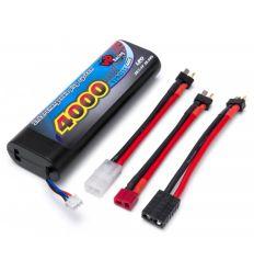 Batterie Lipo 7.4v ( 2s ) 4000 mAh Multi connecteurs ( VP94111 )
