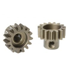 Team Corally - Pignon moteur M1.0 - Court - Acier trempé - 15 Dents - Axe moteur 5mm ( C-72715 )