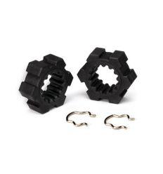 Hexagone de roues + clips (2) X-Maxx ( TRX7756 )