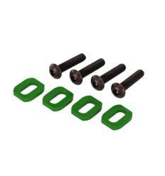 Rondelles de support moteur en alu anodisées vert (4) X-Maxx ( TRX7759G )